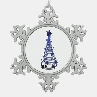 Chirstmas Tree swirls n star mottled blue.png Ornaments