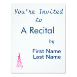 Chirstmas Tree swirls n star mottled pink.png 4.25x5.5 Paper Invitation Card