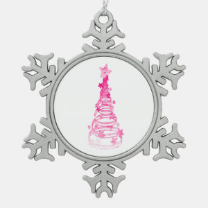 Chirstmas Tree swirls n star mottled pink.png Ornament