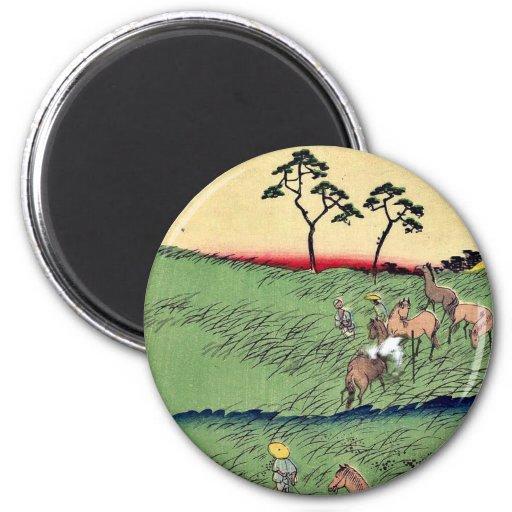 Chiryu by Utagawa, Hiroshige Ukiyoe 2 Inch Round Magnet