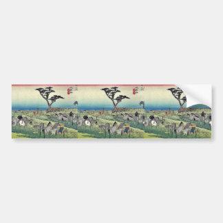 Chiryu por Ando, Hiroshige Ukiyoe Pegatina Para Auto