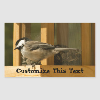 CHIS Chickadee is Suspicious Rectangle Sticker