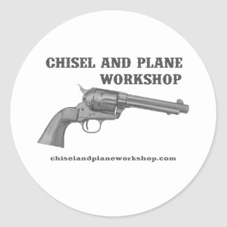 Chisel and Plane Workshop 45 Classic Round Sticker