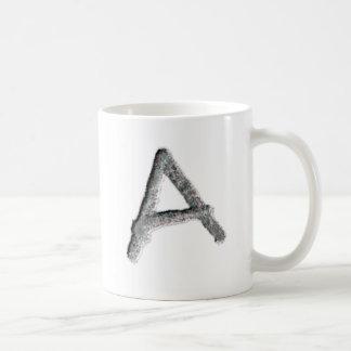 "Chiseled ""A"" name mug. Coffee Mug"