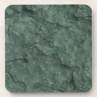 Chiseled Gray Green Rock Drink Coaster