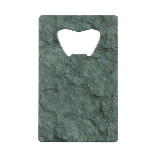 Chiseled Gray Green Rock Credit Card Bottle Opener
