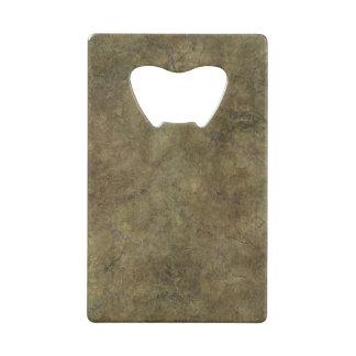 Chiseled Hard Brown Stone Credit Card Bottle Opener