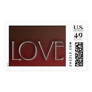 Chiseled love stamp Wedding Postage