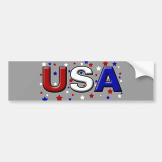 Chiseled Starry USA Bumper Stickers