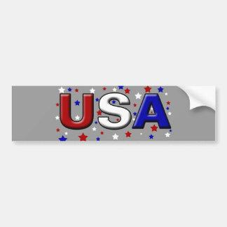 Chiseled Starry USA Car Bumper Sticker