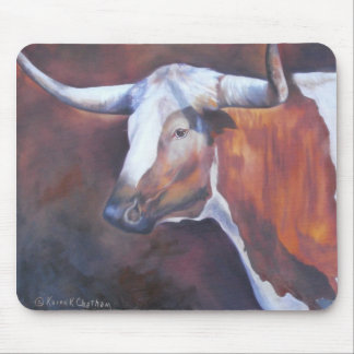 Chisholm Longhorn Mouse Pad