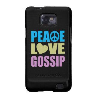 Chisme del amor de la paz samsung galaxy SII carcasas
