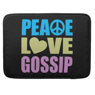 Chisme del amor de la paz fundas para macbooks