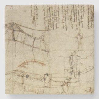 Chisme del vuelo de da Vinci Posavasos De Piedra