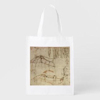 Chisme del vuelo de da Vinci Bolsas Para La Compra