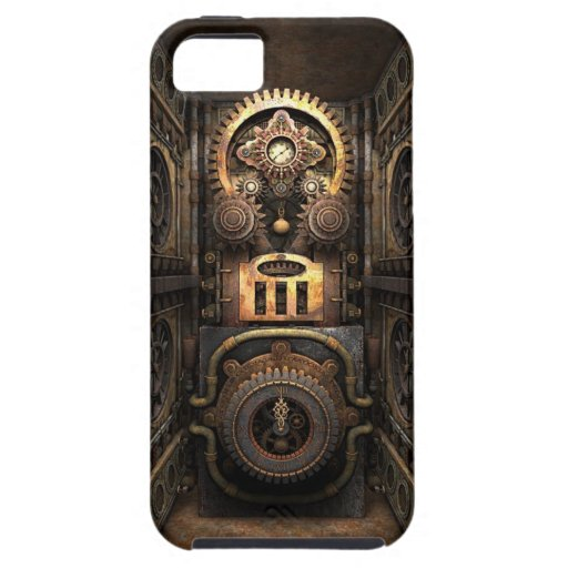 Chisme infernal de Steampunk iPhone 5 Protectores