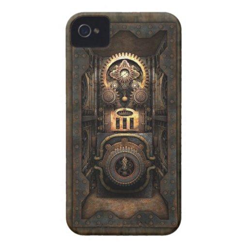Chisme infernal de Steampunk (incluido) iPhone 4 Case-Mate Cobertura