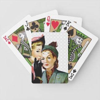 Chisme retro barajas de cartas