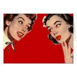 Chismes retros de las mujeres del vintage tarjeta