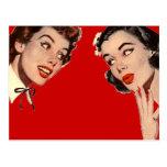 Chismes retros de las mujeres del vintage tarjetas postales