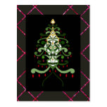 Chispa 2 del árbol de navidad de la postal del
