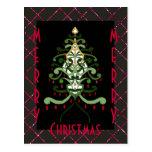 Chispa 4 del árbol de navidad de la postal del