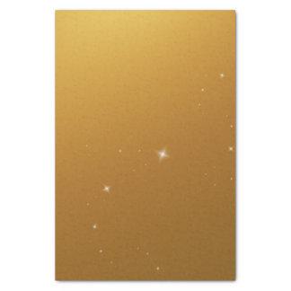 Chispa ambarina del oro papel de seda pequeño