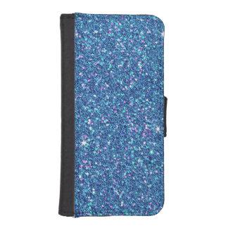 Chispa azul del efecto del brillo del zafiro fundas billetera para teléfono