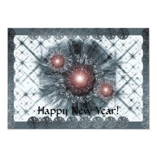 """¡Chispa azul, Feliz Año Nuevo! Invitación 5"""" X 7"""""""