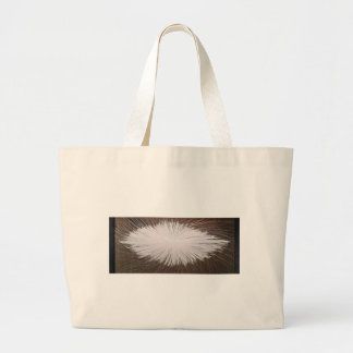 Chispa blanca bolsa tela grande