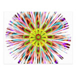 Chispa de Chakra del girasol - colores felices Tarjeta Postal