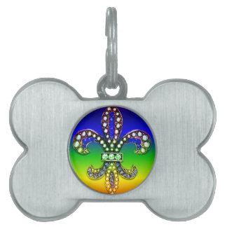Chispa de la joya de Flor New Orleans de la flor d Placa De Mascota