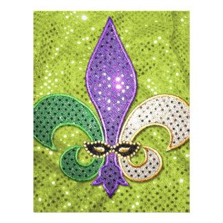 Chispa de la joya de New Orleans de la flor de lis Membrete