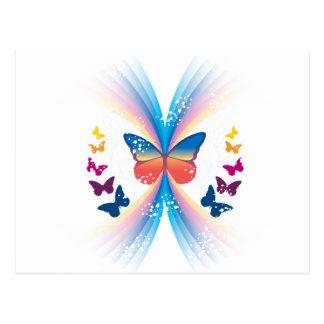 Chispa de la mariposa postales