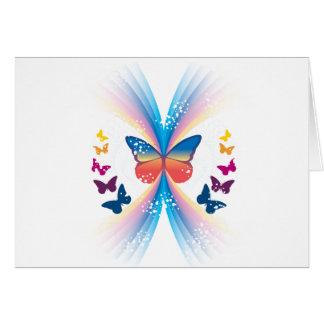 Chispa de la mariposa tarjeta de felicitación