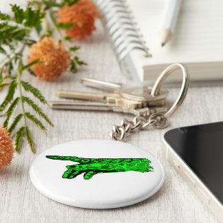 Chispa de la vida - mano de dios del Cyborg verde Llaveros