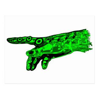 Chispa de la vida - mano de dios del Cyborg (verde Postal