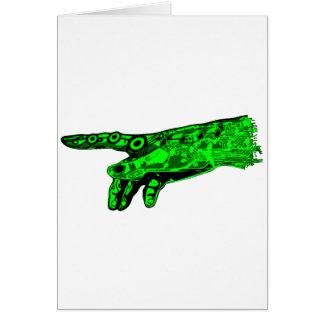 Chispa de la vida - mano de dios del Cyborg (verde Tarjeta De Felicitación