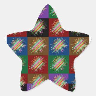 Chispa de las ESTRELLAS múltiples: Disfrute de la Colcomanias Forma De Estrellas