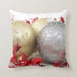 Chispa de los ornamentos del navidad almohada