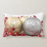 Chispa de los ornamentos del navidad cojines