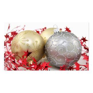 Chispa de los ornamentos del navidad plantillas de tarjetas de visita