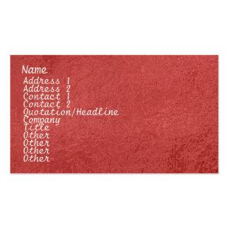 Chispa de seda del satén ART101 rojo oscuro Tarjetas De Visita