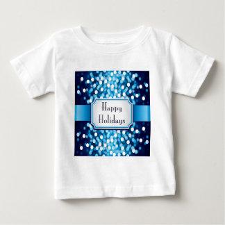 Chispa del azul real buenas fiestas playera de bebé