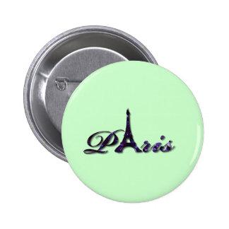 Chispa del brillo de la lentejuela de la torre Eif Pin Redondo De 2 Pulgadas
