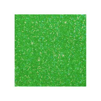 Chispa del efecto del brillo del verde esmeralda impresión en madera