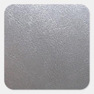 Chispa del gris DE PLATA: Final de cuero de la Pegatina Cuadrada