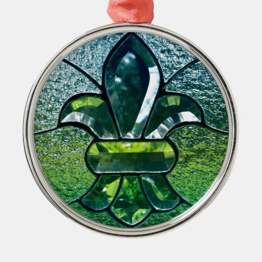 Chispa del verde de Flor New Orleans de la flor de Ornamento Para Reyes Magos