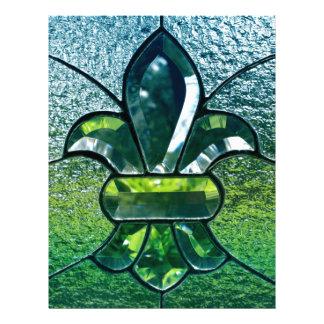 Chispa del verde de Flor New Orleans de la flor de Membretes Personalizados