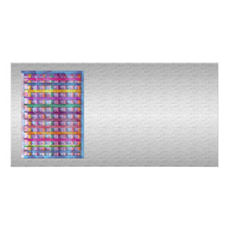Chispa gráfica de plata de seda del arco iris de plantilla para tarjeta de foto